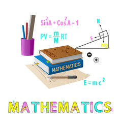 mathematics poster supplies vector image