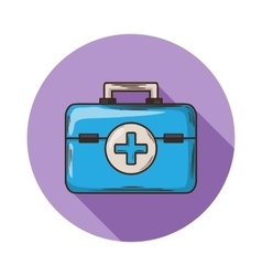 Medical bag vector image