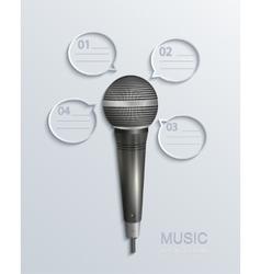 modern music infographics vector image