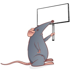 mouse with sign vector image