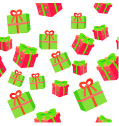 New year boxes with ribbons seamless pattern vector