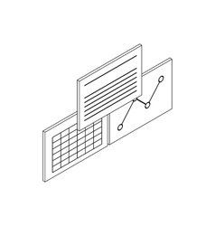 Patient records icon isometric 3d style vector