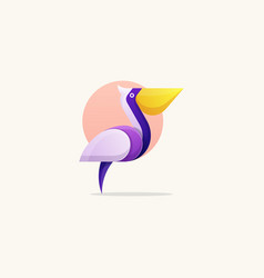 pelican concept template vector image