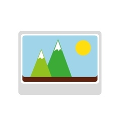 photography picture isolated icon vector image
