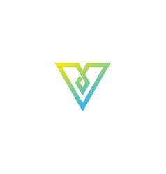 pixel letter v logo icon design vector image