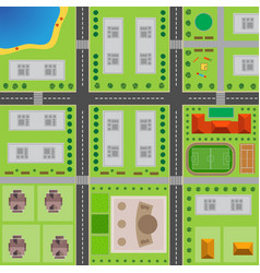 Plan of city vector