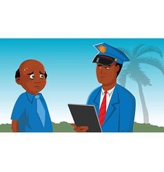 Policeman suspect vector