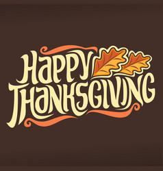 poster for thanksgiving vector image