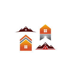 real estate template set vector image