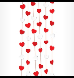 red and white heart shape pattern background vector image