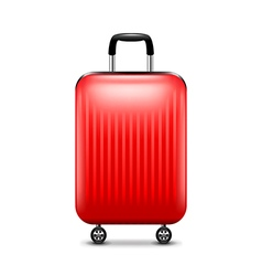 Red luggage isolated on white vector