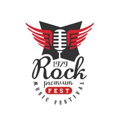 rock premium fest music festival logo est 1979 vector image