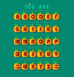 Romantic cipher text you are my pumpkin vector