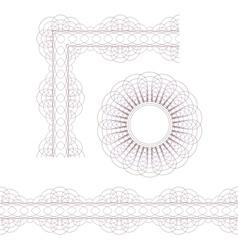 Rosette border and corner vector