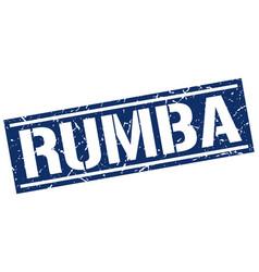 Rumba square grunge stamp vector