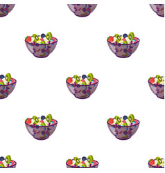salad from various kinds of fruit fruit single vector image