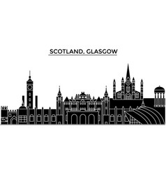 Scotland glasgow city architecture city vector