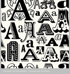 seamless vintage pattern letter A vector image vector image