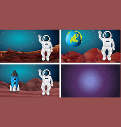 Set different space scene vector