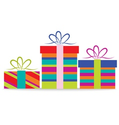 set of christmas gifts for design vector image