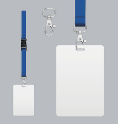 set of lanyard and badge vector image