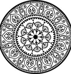 Spiritual decorative emblem vector
