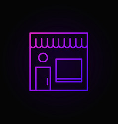 Street cafe colored icon cafe building outline vector