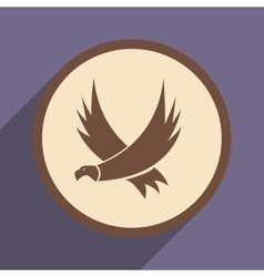 Stylish silhouette of an eagle vector