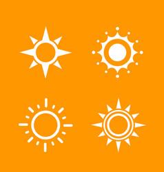 sun logo elements vector image