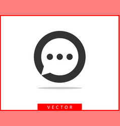 talk bubble speech icon blank empty bubbles vector image