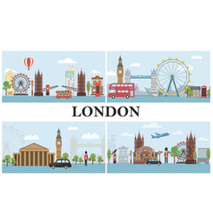 Travel to london composition vector