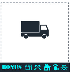 truck icon flat vector image