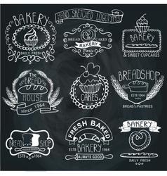 Vintage Bakery LabelsOutline hand sketchy vector
