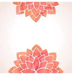 Watercolor red flower patterns background vector