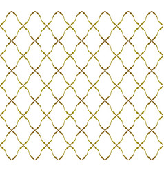 white and gold pattern background vector image