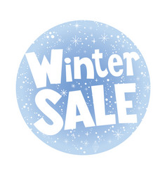 Winter sale round banner vector
