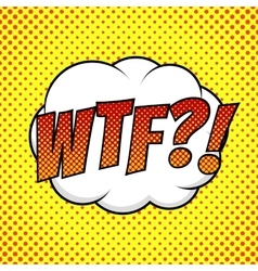 WTF comic background vector image