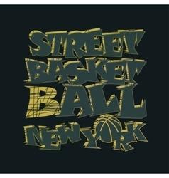 Basketball t-shirt graphic design New York vector image vector image