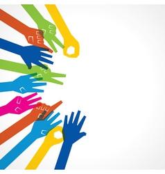 Creative hand icon vector image