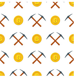 crypto currency mining seamless pattern vector image vector image