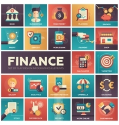 Finance - modern flat design isquare icons vector image