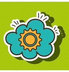 gear wheel cog cloud vector image