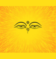 graphic of buddhas eyes vector image