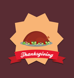 thanksgiving design icon vector image
