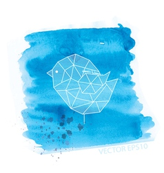 watercolor and geometry bird vector image