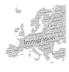 Europe immigration vector image