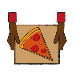 pizza draw vector image vector image