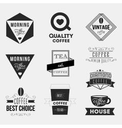 Set of vintage retro coffee Insignias or Logotypes vector image
