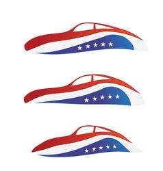 USA car vector image vector image
