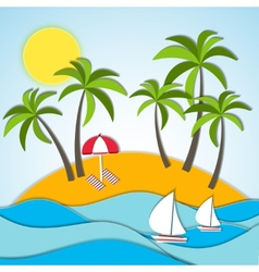 a summer vacation vector image